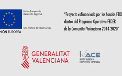 Proyecto COfinanciado por el fondo Europeo de desarrollo regional (FEDER) a través del programa operativo FEDER de la Comunitat Valenciana 2014-2020